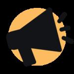Raggiungere clienti (megafono)